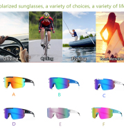 Polarized Sunglasses for Men and Women, TR90 Frame Sun Glasses UV Protection for Cycling, Fishing, Running, Golf, Outdoor Sports