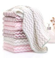 Coral Fleece Microfiber Towel Super Absorbent Face Twill Stripe Towel