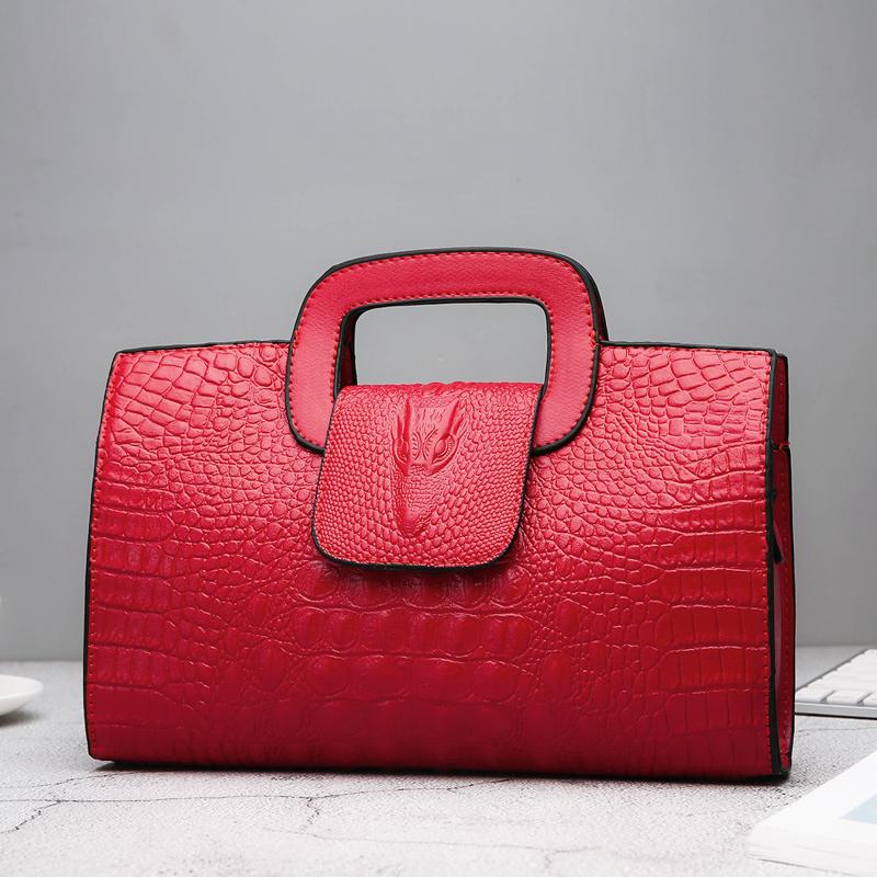Crocodile Faux Leather Handbag 23