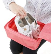 Tas Penyimpanan Sepatu Sandal Waterproof Portable Travel Organizer Tote Shoes Pouch Storage Bag