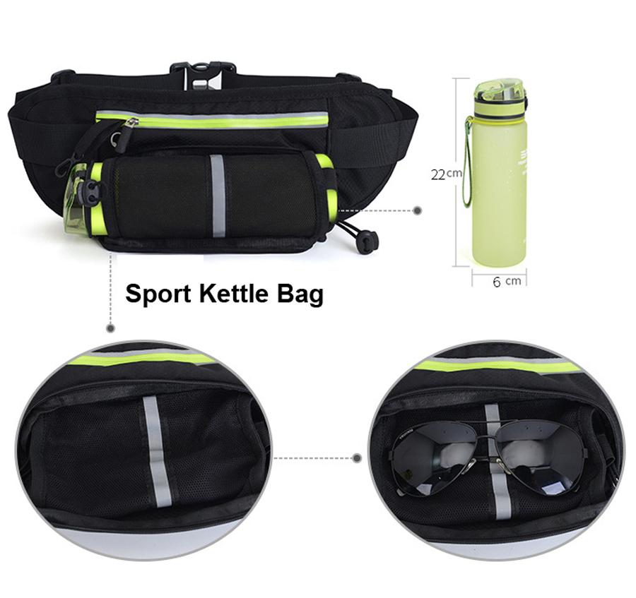 Running Waist Belt Bag With Water Bottle 15