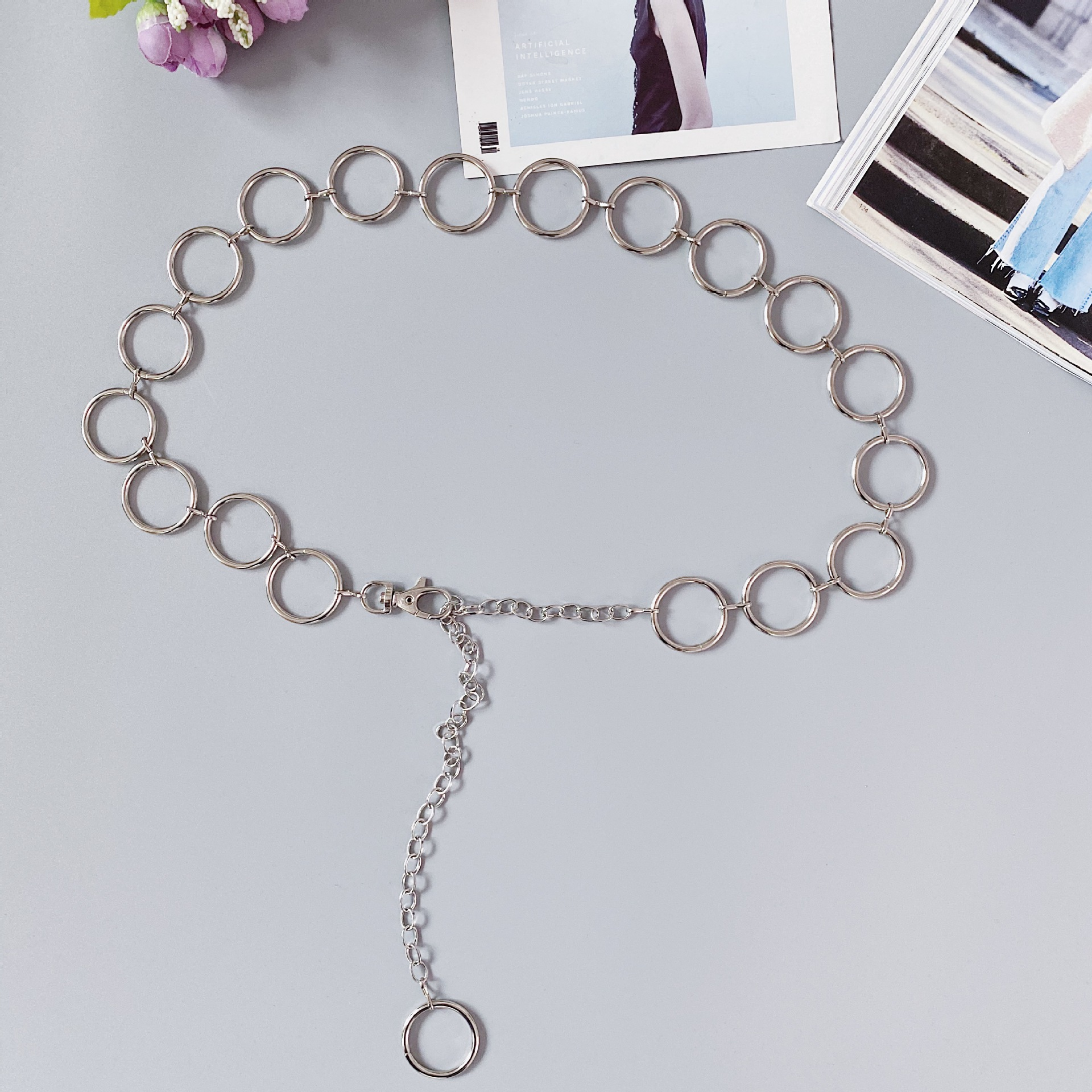 7c27ae30-b9fe-461d-a458-895e098657d2 Heart Shaped Belt Chain Women Fashion Circle Metal Waist Chain