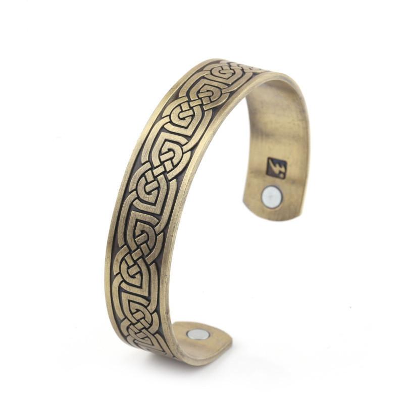 Celtic Irish Viking bracelet with Celtic knot design. Health bracelet, magnetic therapy