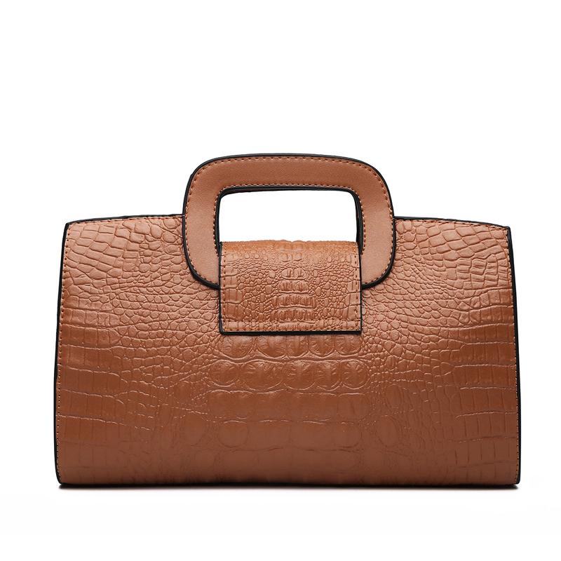 Crocodile Faux Leather Handbag 15