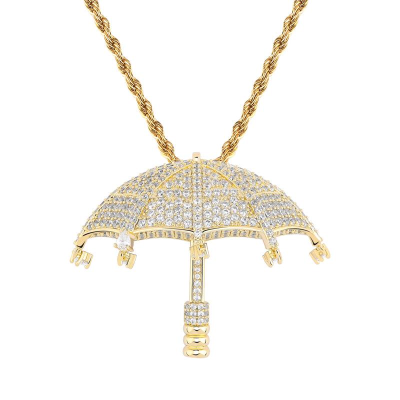 gold color  Umbrella Pendant