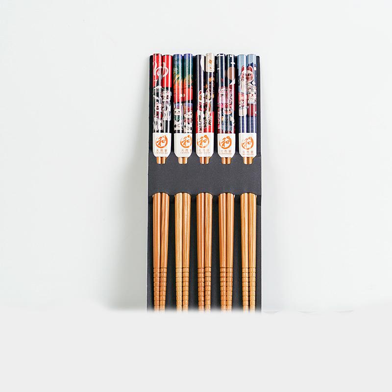 Otra presentación en caja de los palillos madera estilo japonés