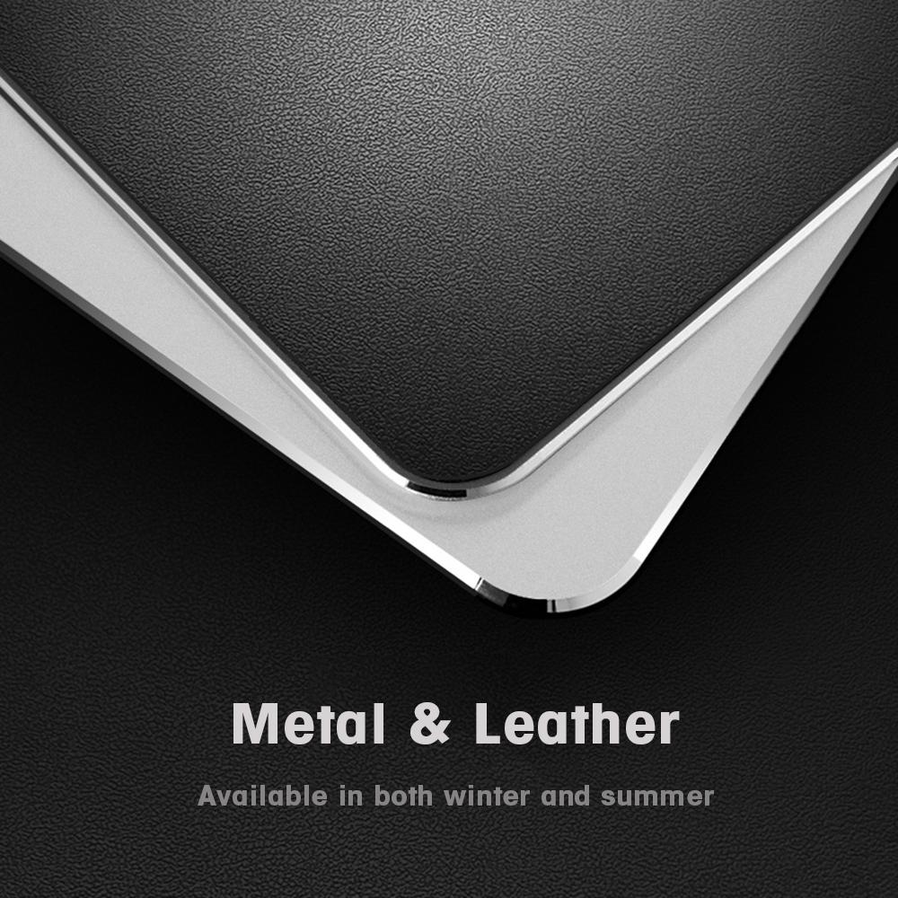 deux modèles de tapis en cuir et aluminium xxl