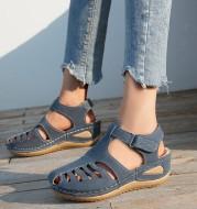 Woman Summer Vintage Wedge Sandals Buckle Casual Sewing Women Shoes Female Ladies Platform Retro Sandalias Plus Size