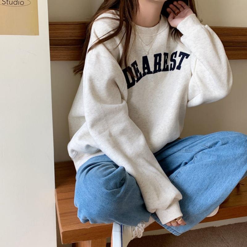 Dearest Sweatshirt Velvet Padded Sweater