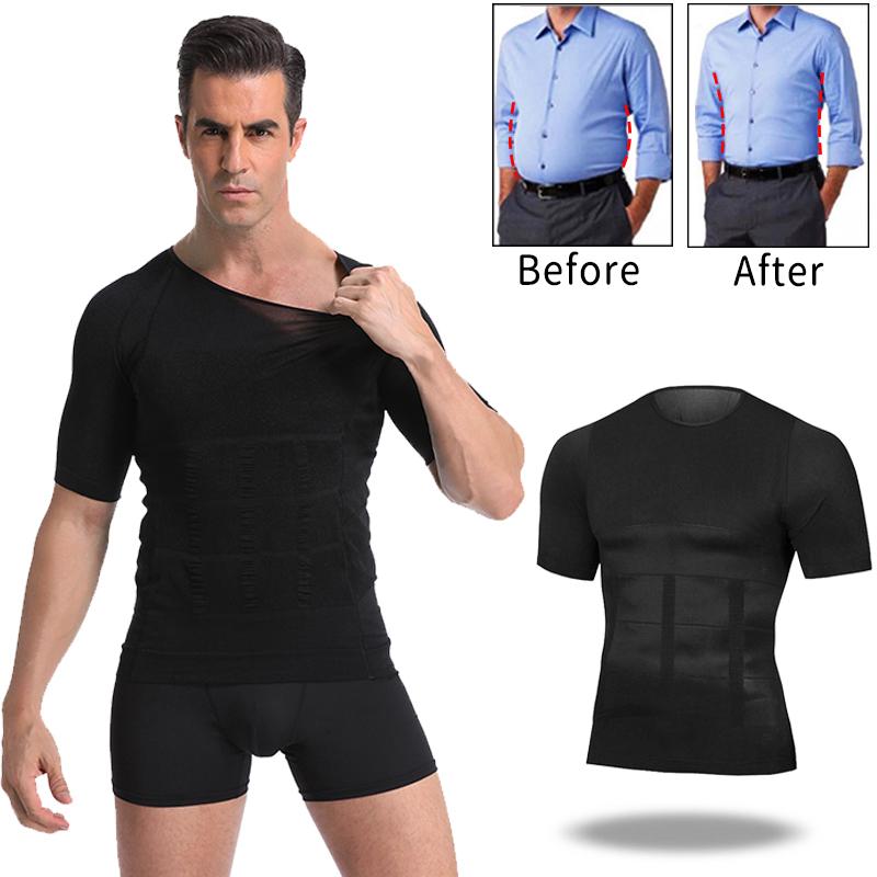 Men Body Toning T-Shirt Body Shaper