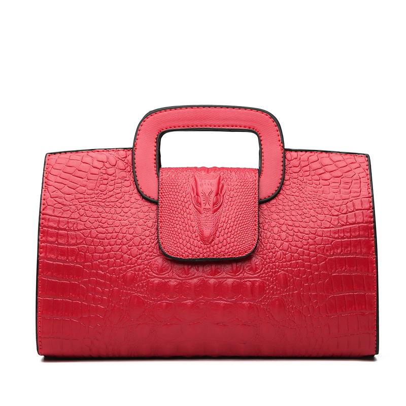 Crocodile Faux Leather Handbag 17