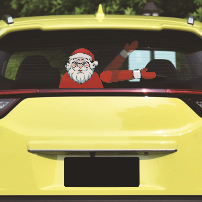 Santa Wiper Car Sticker without Straps allinonehere.com