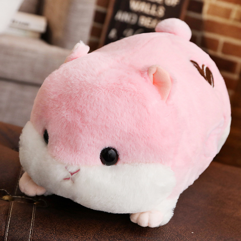 Cute Hamster Big Plush Toy Sleeping Hugging Cuddling Body Pillow Stuffed Animal Doll Cot Fluffy Soft Home Decor