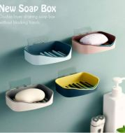 Minimalis Bar Soap Dish Bath Shower Piring tempat Sabun tempel Double layer soap holder