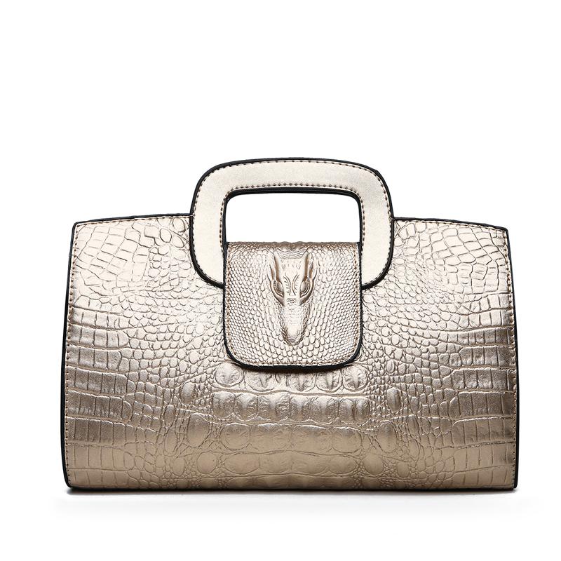 Crocodile Faux Leather Handbag 6