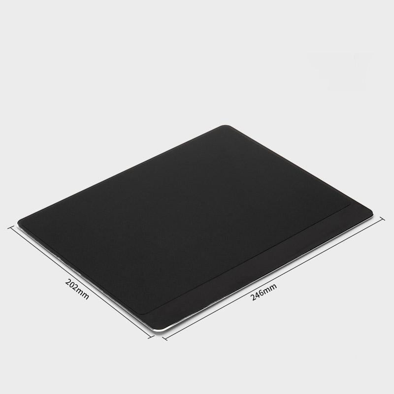 Tapis de souris aluminium matière double rebord 202x246 noir