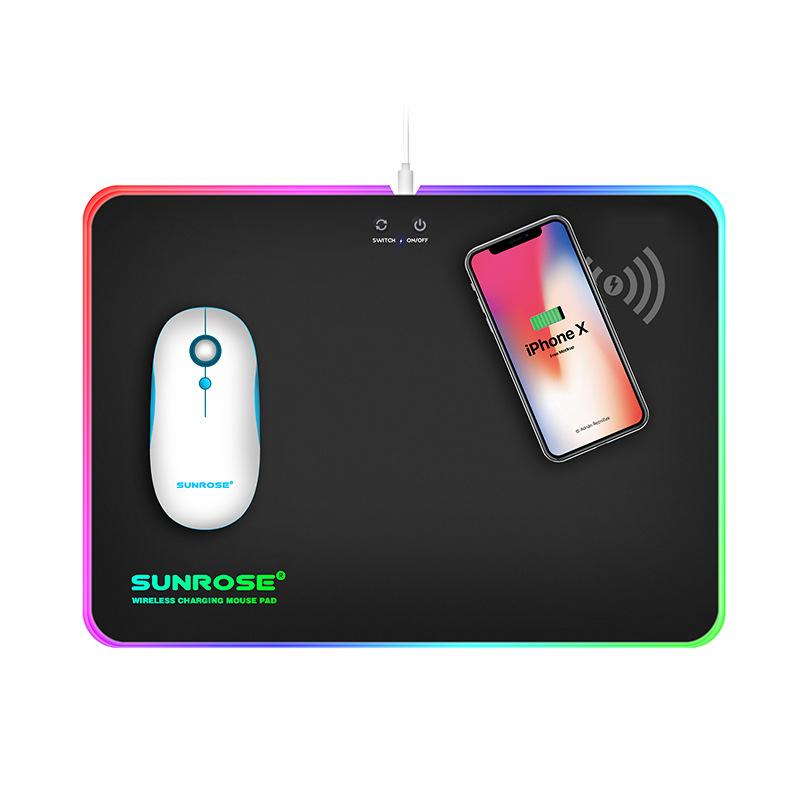 tapis de souris RGB rechargeable