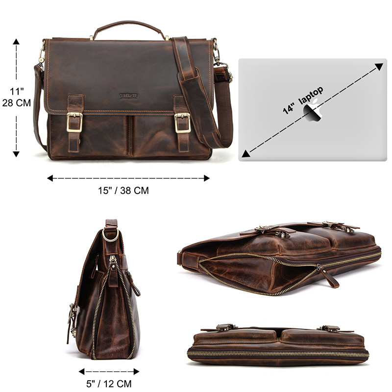 Leather Mens Business Briefcase 6