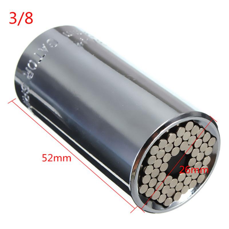 Universal Wrench Ratchet Universal Socket 7-19mm Power Drill Adapter Wrench Combination universal key allinonehere.com