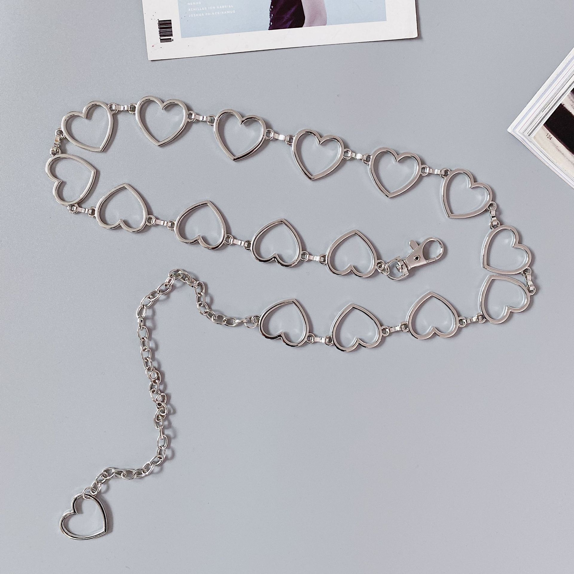 92bdd0cc-be3b-48b1-97d6-e75eeda369f4 Heart Shaped Belt Chain Women Fashion Circle Metal Waist Chain