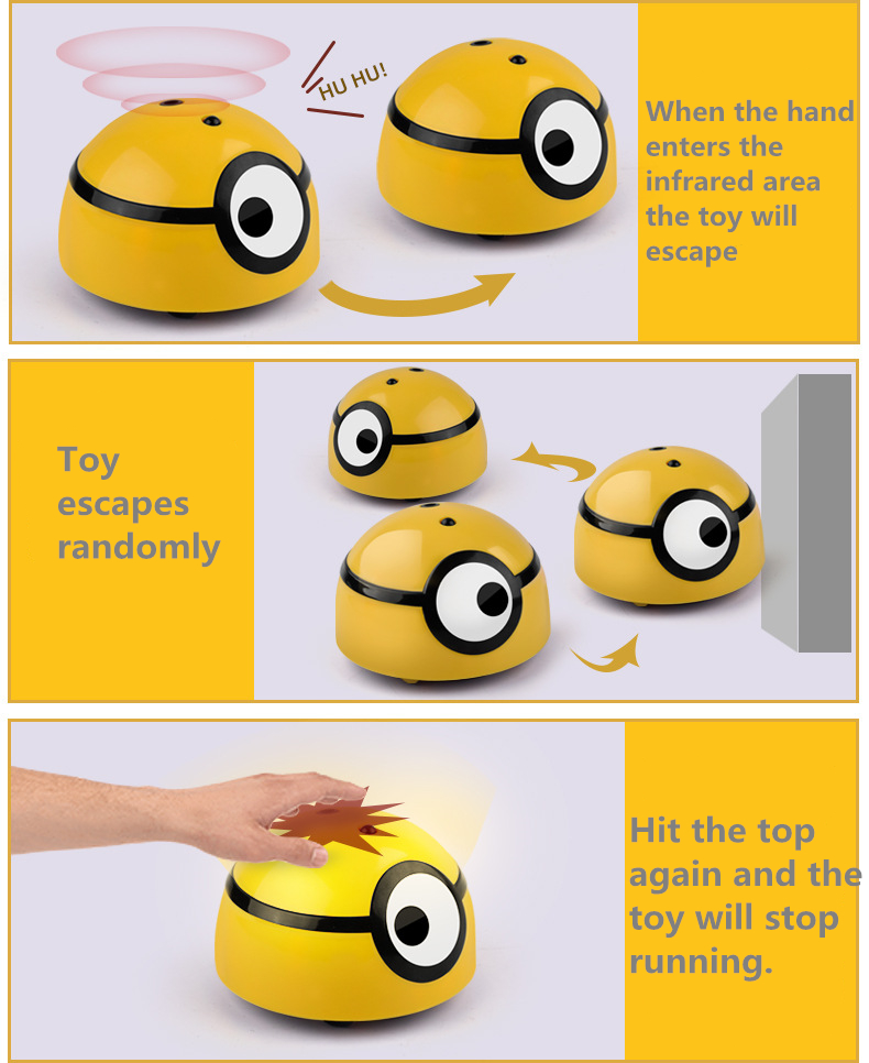 Intelligent Minion Runaway Toy For kids and Dogs