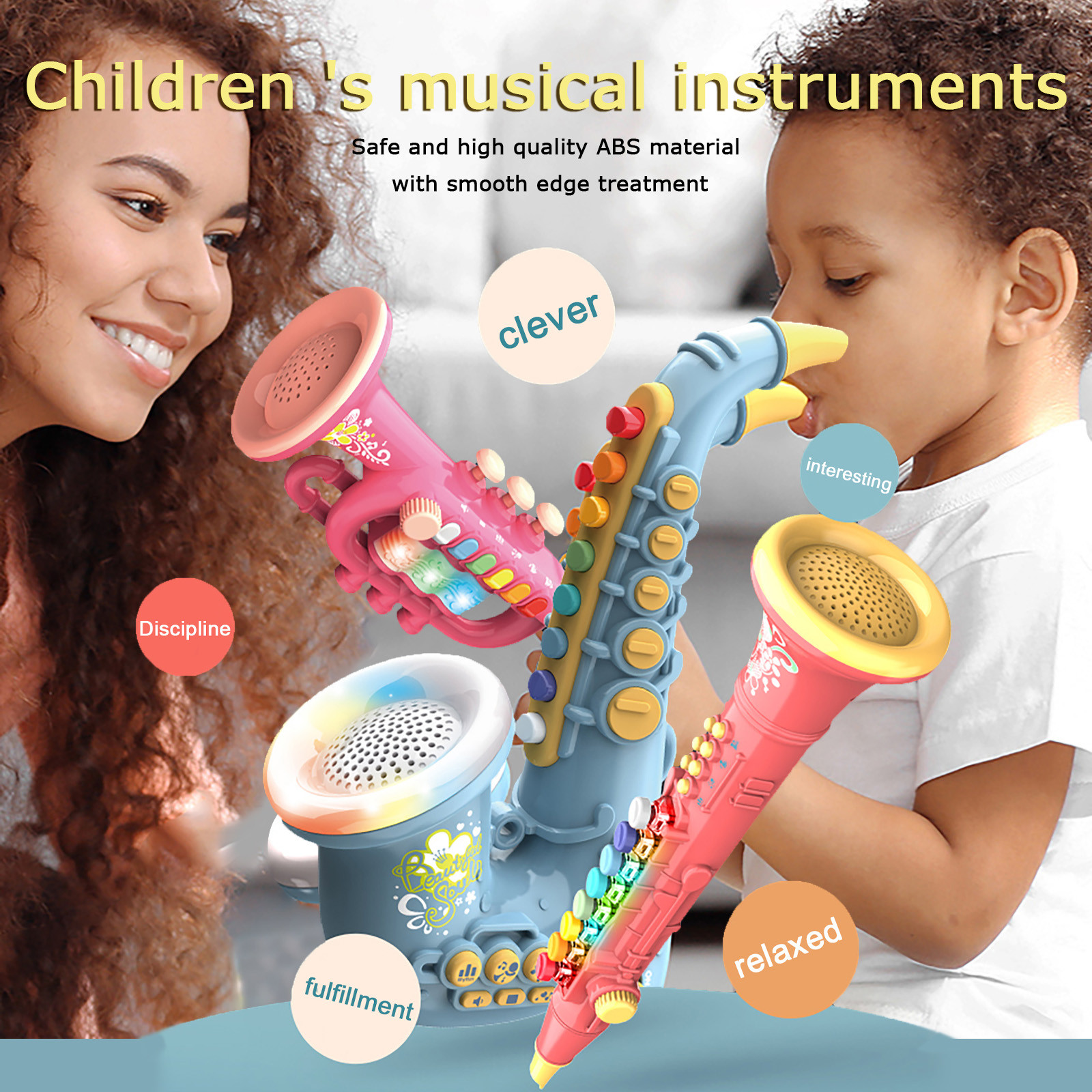 Children Simulation Electric Saxophone Trumpet Clarinet Early Education Music Toys