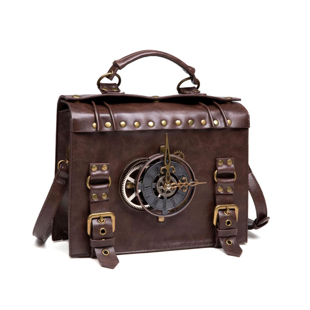 Steampunk industrial retro style shoulder bag allinonehere.com