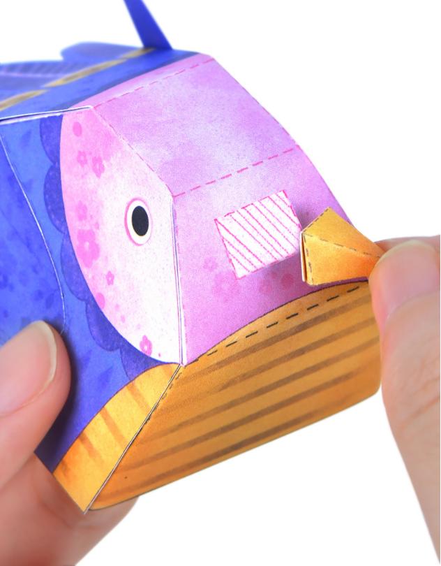 Libro manualidades origami animales 3D_montaje pájaro