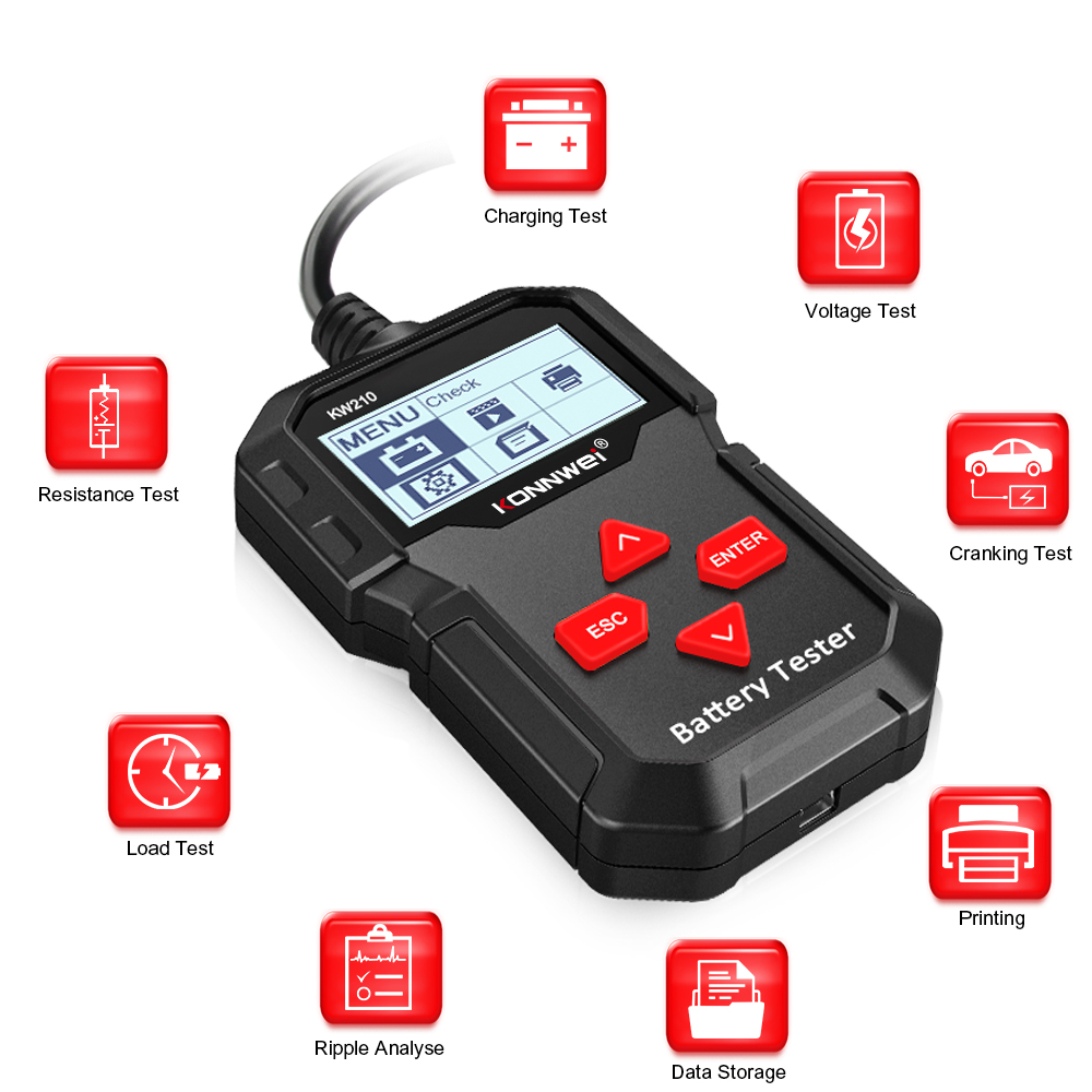 Car battery capacity Detector tester battery health checker