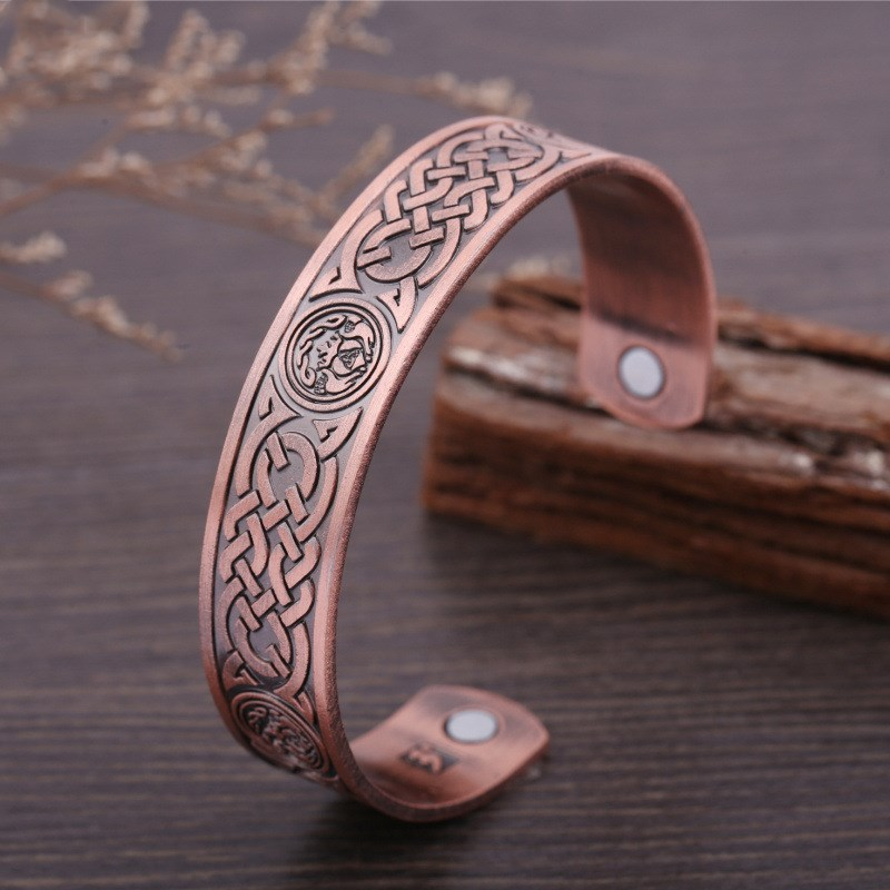 Celtic Viking bracelet with Celtic knot design. Health bracelet, magnetic therapy