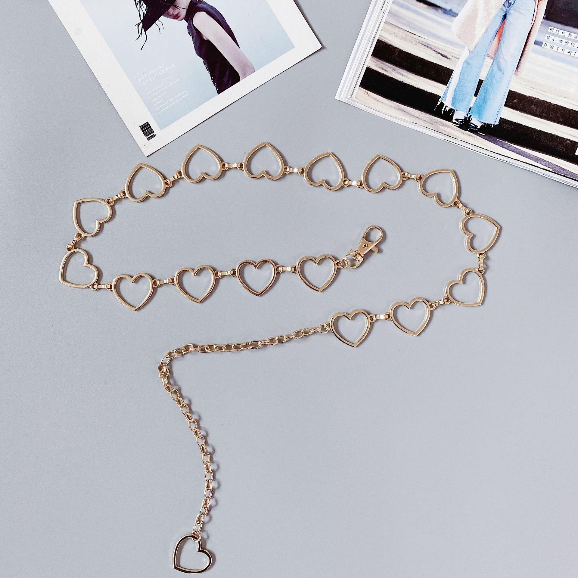 9786e222-be9b-4d8a-804f-d74961bb1c11 Heart Shaped Belt Chain Women Fashion Circle Metal Waist Chain