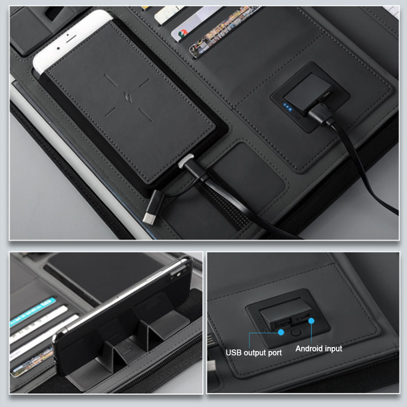 Business Document Holder With Power Bank 5