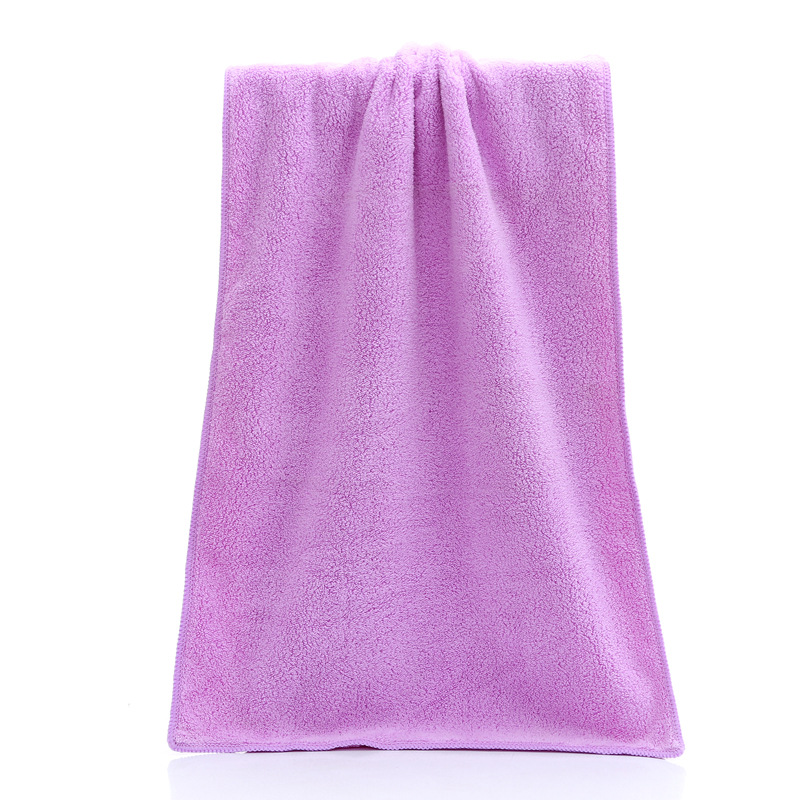 Coral Fleece Microfiber Towel Also Erase All Makeup With Just Water, Including Waterproof Mascara, Eyeliner, Foundation, Lipstick, And More
