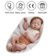 19 Inches Newborn Cute Sleeping Reborn Baby Vinyl Doll Gift Toy for Children