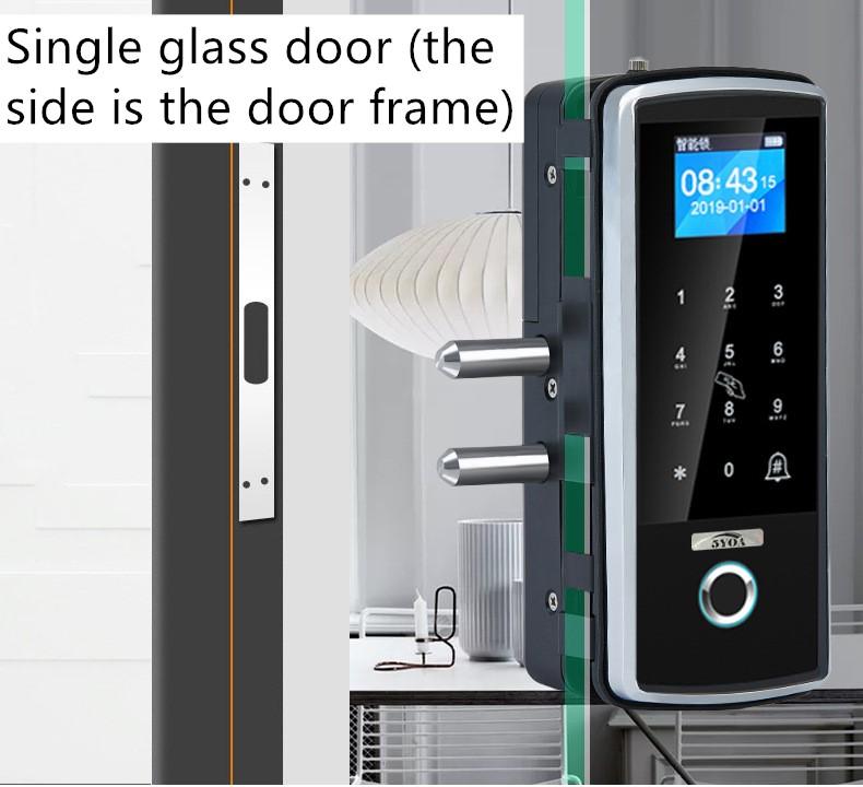 Singl glass door