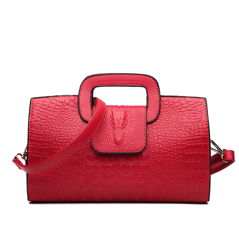 Crocodile Faux Leather Handbag 14