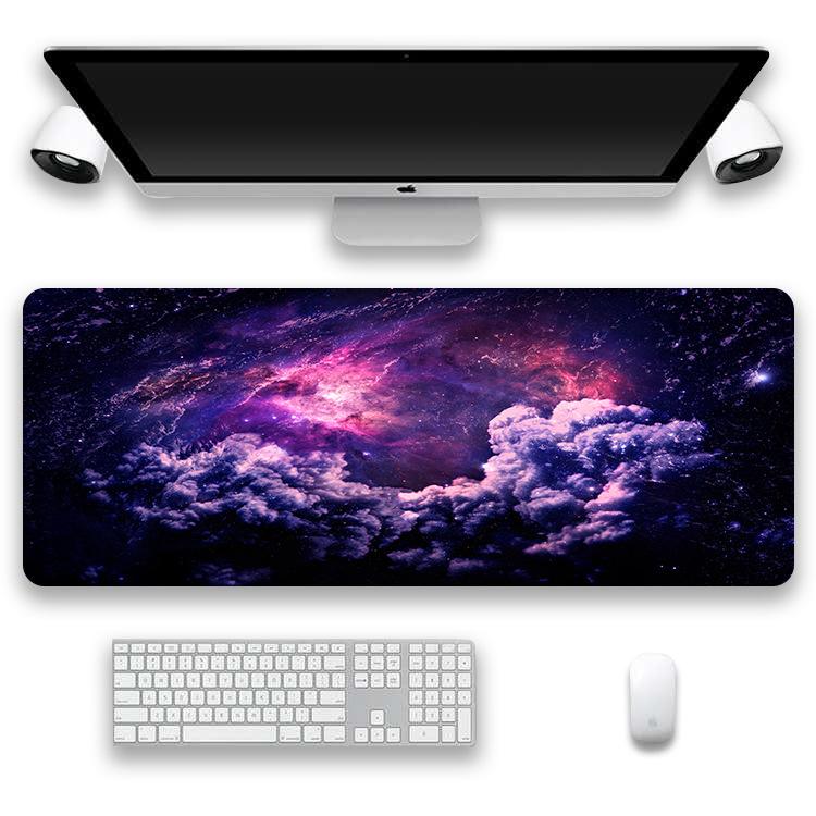 Tapis de souris XXL - Série espace et galaxie - Nébuleuse violette et rose
