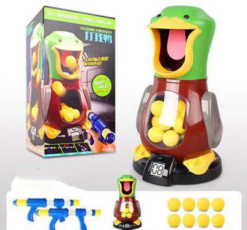 Interesting Soft Bullet Gun Score Target Duck Kids Shooting Toys Shooter Foam Ball Battle Educational Air Power Popper Xmas Gift allinonehere.com