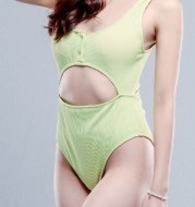 Women Knitted Swimwear 2 Piece Wide Strap Top Brand Forever 21