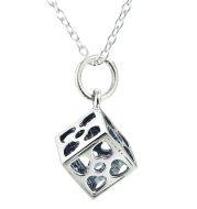 sterling silver jewelry square hollow necklace