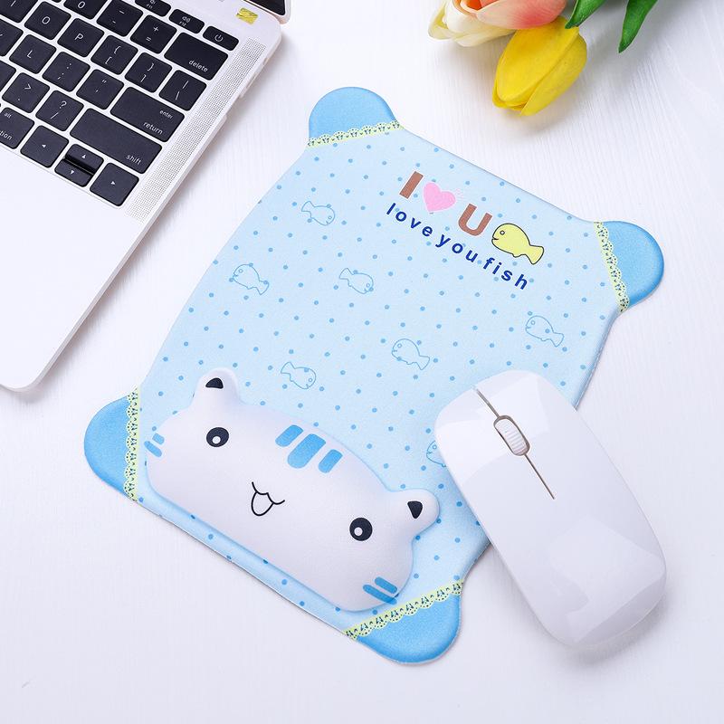 Tapis de souris enfant 3D chat blanc