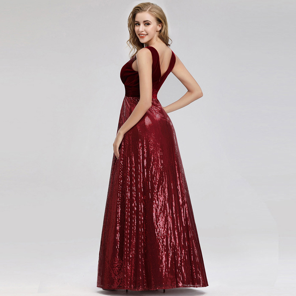 Sequined Red Formal Gown