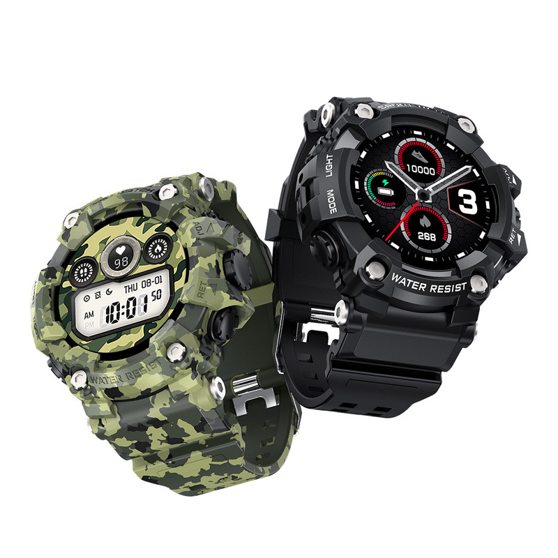 Mens Camo Sports Smart Watch