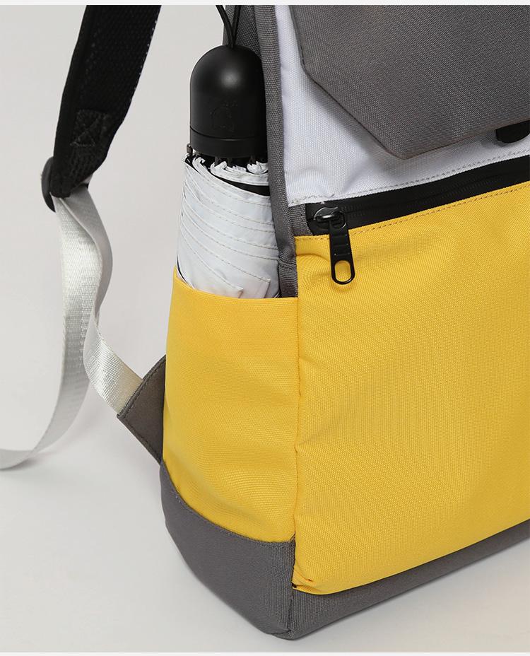 Foto bolsillo lateral mochila Ghost Destruction Blade anime amarilla