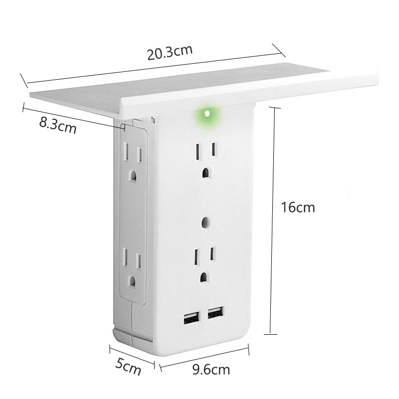 Socket Shelf - Tray Wall Bracket Wall Plug 7