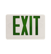 LOC-EXIT-1.2WGLW - LED WHITE AND GREEN EXIT SIGN 1.2W, EMERGENCY WATT 0.36W, UL & TITLE 20 LISTED