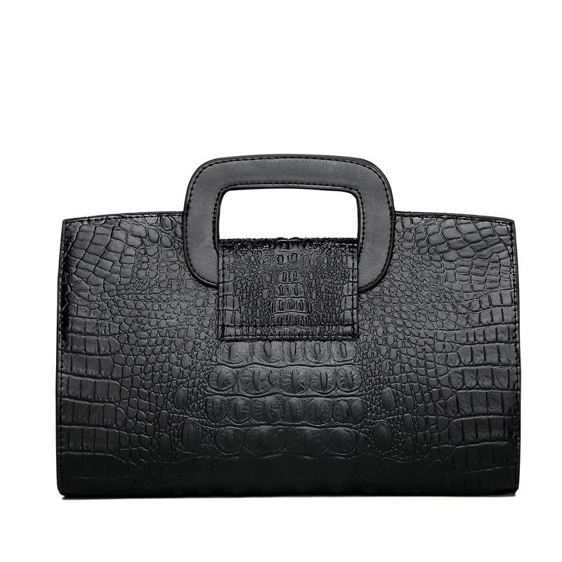 Crocodile Faux Leather Handbag 3
