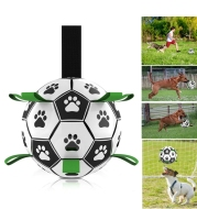 Dog Toys Interactive Pet Football Toys with Grab Tabs Dog Outdoor training Soccer Pet Bite Chew Balls for Dog accessories
