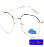 Zilead Polygon Metal Anti Blue Light Blocking Glasses Frame Men&Women Computer Games Goggles Eyeglasses Optical Spectacle Frame