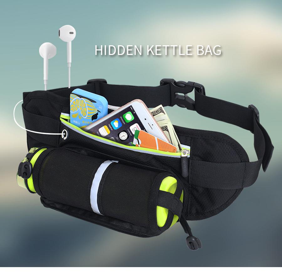 Running Waist Belt Bag With Water Bottle 13